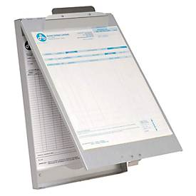 Klemmbrett, DIN A4, Aluminium, mit Formularhalterbox