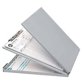 Klemmbrett/Formularhalter-Box, Alu, DIN A4