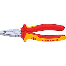 KNIPEX VDE-Kombinationszange 160 mm Kopf verchromt mit Zweikomponenten-Griff