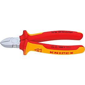 KNIPEX VDE-Seitenschneider 180 mm Kopf verchromt mit Zweikomponenten-Griff