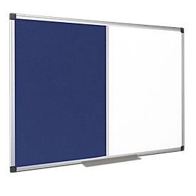 Kombitafel MAYA Filzblau/Whiteboard, magnetisch