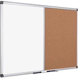 Kombitafel MAYA, kombinierte Pinn-und Whiteboardtafel, Kork oder Filz, div. Größen