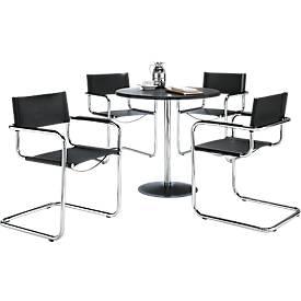 Komplett-Angebot Tisch Lena + 4 Schwingstühle Pisa