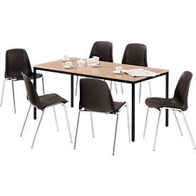 Komplett-Angebot Tisch und 6 Stühle