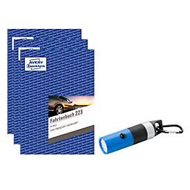 Komplettangebot Avery Zweckform 3 x Fahrtenbuch 223 + gratis LED-Leuchte
