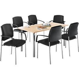 Komplettangebot Tisch + 6 Stühle SSI-PROLINE