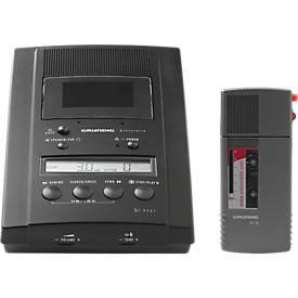 Komplettset Grundig Diktiergerät SH10 und Grundig Wiedergabegerät ST3221