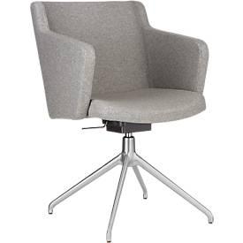 Konferenzstuhl Sitness 1.0, dreidimensionale Sitzfläche, höhenverstellbar, drehbar