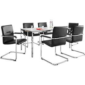Konferenztisch + 6 Besucherstühle Rumba SET
