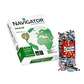 Kopieerpapier Navigator Universal, DIN A4, 80 g/m², wit, 1 vakje = 20 x 500 vellen