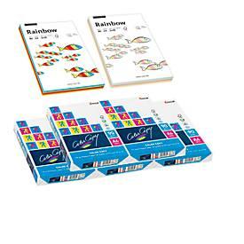 Kopierpapier 2500 Blatt + Rainbow-Mixpaket instensiv/pastell, GRATIS