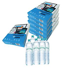 Kopierpapier Everywhere 15 Pakete + Vöslauer Mineral 6 Stück, GRATIS