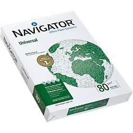 Kopierpapier Navigator Universal, DIN A3, 80 g/m², hochweiß, 1 Paket = 500 Blatt