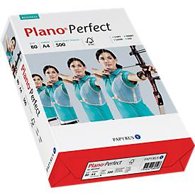 Kopierpapier Papyrus Plano® Perfect, DIN A4, 80 g/m², hochweiß, 1 Karton = 5 x 500 Blatt