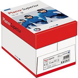 Kopierpapier Papyrus Plano® Superior, DIN A4, 80 g/m², hochweiß, 1 Karton = 5 x 500 Blatt