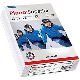 Kopierpapier Papyrus Plano® Superior, DIN A5, 80 g/m², hochweiß, 1 Karton = 10 x 500 Blatt