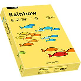 Kopierpapier Rainbow 80 Intensivfarben, DIN A3, 80g/qm, gelb