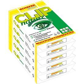 Kopierpapier Schäfer Shop CLIP nature, DIN A4, 75 g/m², reinweiß, 1 Karton = 5 x 500 Blatt
