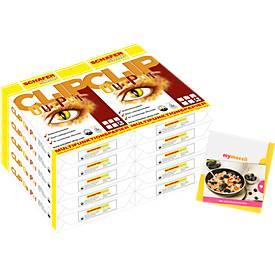 Kopierpapier Schäfer Shop CLIP OutPut, DIN A4, 80 g/m², reinweiß, 1 Karton = 20 x 500 Blatt