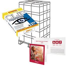 Kopierpapier Schäfer Shop Paper@Print, DIN A4, 80 g/m², weiß, 1 Palette = 200 x 500 Blatt + 50 Euro MyDays-Gutschein GRATIS