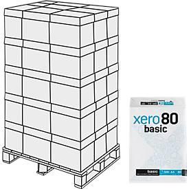 Kopierpapier xero80 basic, 25.000 Blatt, Palette
