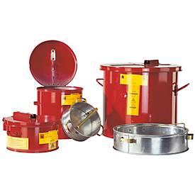 Korf met kleine onderdelen voor het wassen en dompelen van containers met een inhoud van 8 liter.