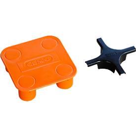Kruisverbinder voor PE-opvangbakken HD, polyetheen, 115 x 115 x 35 mm