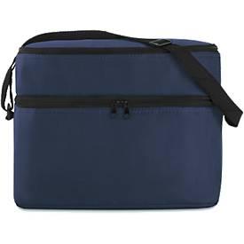 Kühltasche Casey, aus 600D-Polyester, 2 RV-fächer, verstellbarer Schultergurt