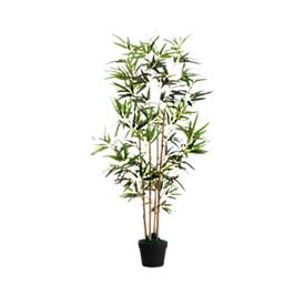 Kunstpflanze PAPERFLOW Bambus, grün, aus PE, inkl. Kunststofftopf, H 1600 mm