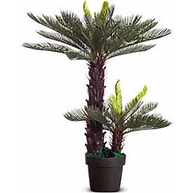 Kunstpflanzen PAPERFLOW, aus PE, grün, inkl. Kunststofftopf, Zykas, 800 mm