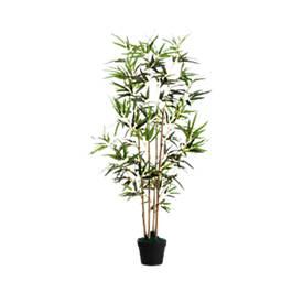 kunstplant PAPERFLOW bamboe, groen, gemaakt van PE, incl. kunststof pot, H 1600 mm