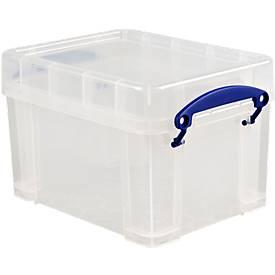 Kunststof box, transparant, met deksel, 3 liter