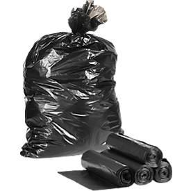 Kunststoff-Abfallsäcke, schwarz