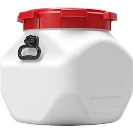 Kunststofffass CurTec, quadratisch, mit Schraubdeckel, HDPE, wasserdicht, 40 l