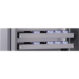Ladeblok voor materiaalkasten MSI 2409, zilvergrijs gepoedercoat, 950 mm breed