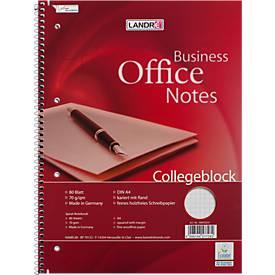 Landré Collegeblock Office DIN A4, 80 Blatt, 10 Stück, kariert