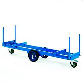 Lange materiaalwagen, 2000 x 600 mm, draagvermogen 2.000 kg.