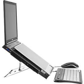 F/ür Reise Perfekte K/ühlung Tragbarer und Faltbarer Notebook-St/änder mit Tragetasche Passend f/ür alle Laptops /& Tablets Flexibel B/üro und Zuhause Leichter Laptop St/änder Robust und Stabil