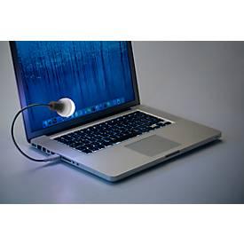 Laptop-Lampe, mit biegsamen Schwanenhals, optimale Erleuchtung der Tastatur