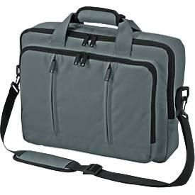 Laptop-Rucksack Economy, aus Mini Ripstop, als Umhängetasche oder Rucksack nutzbar, grau