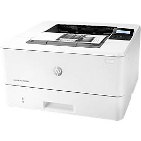 Laserdrucker HP LaserJet Pro M404dn, schwarz-weiß, USB-/netzwerkfähig, Duplex, bis A4
