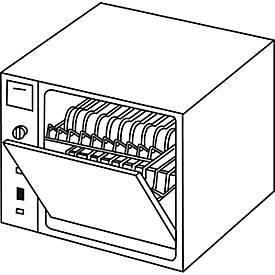 Lave-vaisselle compact pour kitchenette