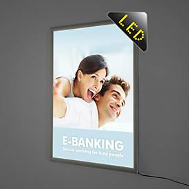 LED afneembaar frame, enkelzijdig, 210 x 297 mm, DIN A4, 12 W, DIN A4, 12 W