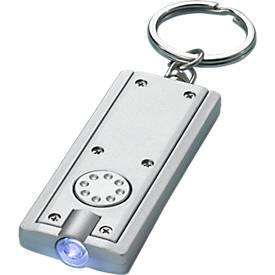 LED-Schlüsselanhänger, silber