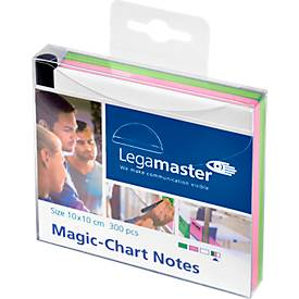 Legamaster Magic-Chart Notes, 7-159 Serie, 100 x 100 mm, 300 Stück, grün/rosa/weiß