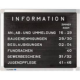 Legamaster Rillentafel Premium, Querformat, inkl. Montageset L 400 x B 300 mm