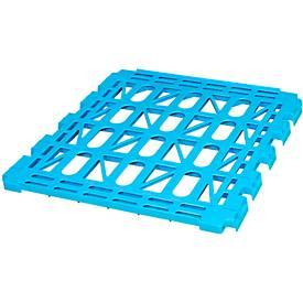 Legbord, kunststof, voor 3-zijdige rolbox, blauw