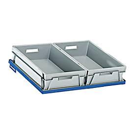 Legplank Stalen frame voor dozen in Euro-maat, B 620 x D 410 mm.