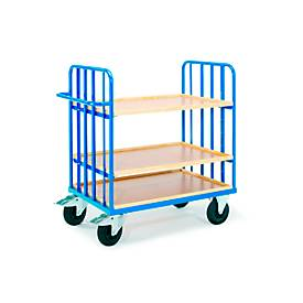 Legwagen met duwbeugel, 975 x 675 mm, met variabele indeling voor rekkenbakken.