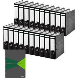 LEITZ® Ordner 1080, DIN A4, 80 mm, 20 Stück + GRATIS 1 Leitz Office Collegeblock